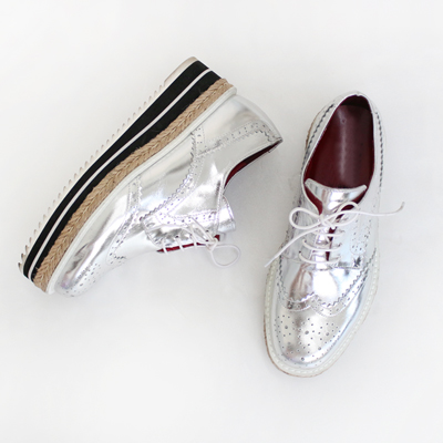 silver high-Loafer