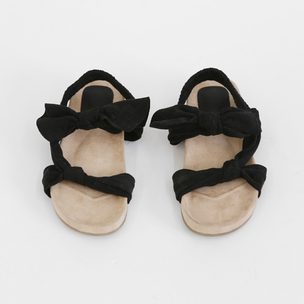 black ribbon-sandal