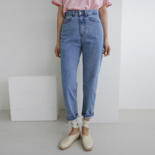 folling denim-pants