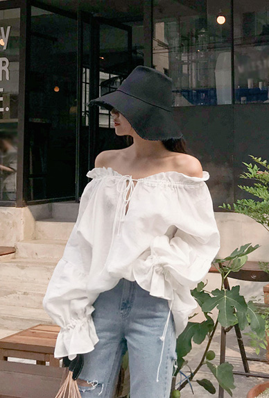 linen off shoulder-bl